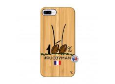 Coque iPhone 7Plus/8Plus 100 % Rugbyman Entre les Poteaux Bois Bamboo