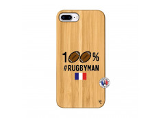 Coque iPhone 7Plus/8Plus 100% Rugbyman Bois Bamboo