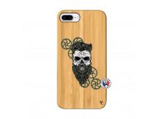 Coque iPhone 7Plus/8Plus Skull Hipster Bois Bamboo
