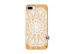 Coque iPhone 7Plus/8Plus White Mandala Bois Bamboo