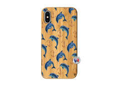 Coque Bois iPhone X/XS Dauphins