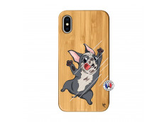 Coque iPhone X/XS Dog Impact Bois Bamboo