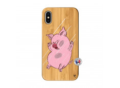 Coque iPhone X/XS Pig Impact Bois Bamboo