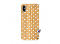 Coque iPhone X/XS Little Hearts Bois Bamboo