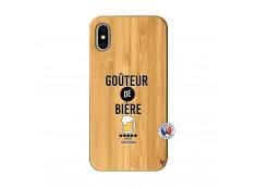 Coque iPhone X/XS Gouteur De Biere Bois Bamboo