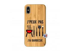 Coque Bois iPhone X/XS Je Peux Pas J Ai Barbecue