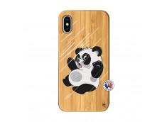 Coque iPhone X/XS Panda Impact Bois Bamboo