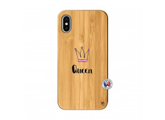 Coque iPhone X/XS Queen Bois Bamboo
