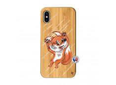 Coque iPhone X/XS Fox Impact Bois Bamboo
