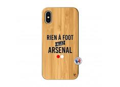 Coque iPhone X/XS Rien A Foot Allez Arsenal Bois Bamboo
