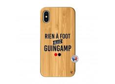 Coque iPhone X/XS Rien A Foot Allez Guingamp Bois Bamboo
