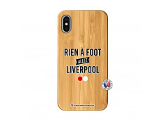 Coque iPhone X/XS Rien A Foot Allez Liverpool Bois Bamboo