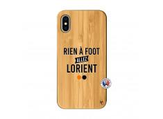Coque iPhone X/XS Rien A Foot Allez Lorient Bois Bamboo
