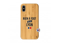 Coque iPhone X/XS Rien A Foot Allez Lyon Bois Bamboo