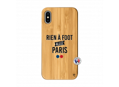 Coque iPhone X/XS Rien A Foot Allez Paris Bois Bamboo