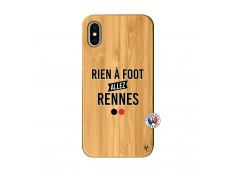 Coque iPhone X/XS Rien A Foot Allez Rennes Bois Bamboo