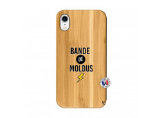 Coque iPhone XR Bandes De Moldus Bois Bamboo