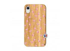 Coque Bois iPhone XR Flamingo