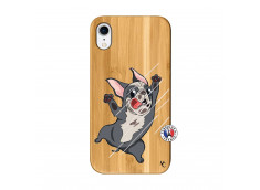 Coque iPhone XR Dog Impact Bois Bamboo