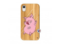 Coque iPhone XR Pig Impact Bois Bamboo