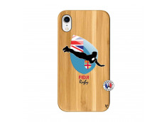 Coque iPhone XR Coupe du Monde Rugby Fidji Bois Bamboo