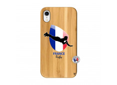 Coque iPhone XR Coupe du Monde de Rugby-France Bois Bamboo
