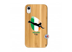 Coque iPhone XR Coupe du Monde Rugby-Ireland Bois Bamboo