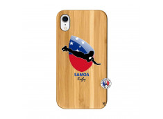 Coque iPhone XR Coupe du Monde Rugby-Samoa Bois Bamboo