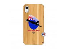 Coque iPhone XR Coupe du Monde Rugby- Nouvelle Zélande Bois Bamboo