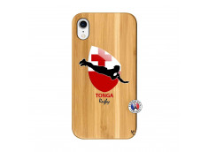 Coque iPhone XR Coupe du Monde Rugby-Tonga Bois Bamboo