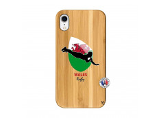 Coque iPhone XR Coupe du Monde Rugby-Walles Bois Bamboo