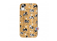 Coque iPhone XR Cow Pattern Bois Bamboo