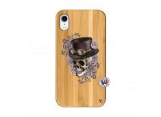 Coque iPhone XR Dandy Skull Bois Bamboo