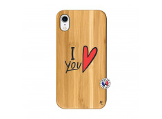 Coque iPhone XR I Love You Bois Bamboo