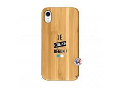 Coque iPhone XR Je Crains Degun Bois Bamboo