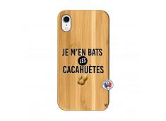 Coque iPhone XR Je M En Bas Les Cacahuetes Bois Bamboo