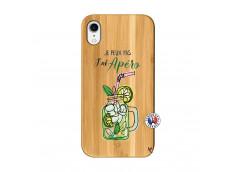 Coque iPhone XR Je peux pas J'ai Apéro Bois Bamboo