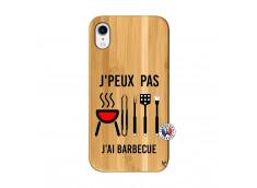 Coque Bois iPhone XR Je Peux Pas J Ai Barbecue
