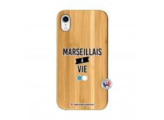 Coque iPhone XR Marseillais à Vie Bois Bamboo