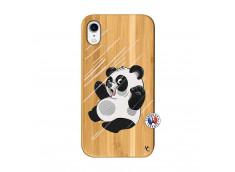 Coque iPhone XR Panda Impact Bois Bamboo