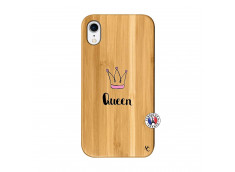 Coque iPhone XR Queen Bois Bamboo