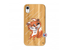 Coque iPhone XR Fox Impact Bois Bamboo