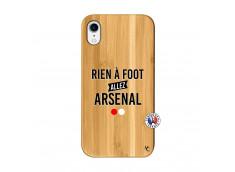 Coque iPhone XR Rien A Foot Allez Arsenal Bois Bamboo