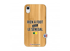 Coque iPhone XR Rien A Foot Allez Le Senegal Bois Bamboo