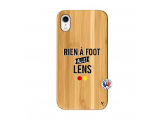 Coque iPhone XR Rien A Foot Allez Lens Bois Bamboo