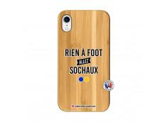 Coque iPhone XR Rien A Foot Allez Sochaux Bois Bamboo