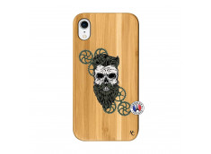 Coque iPhone XR Skull Hipster Bois Bamboo