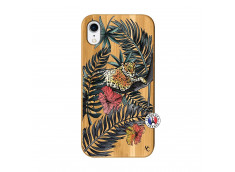 Coque iPhone XR Leopard Tree Bois Bamboo