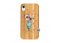 Coque iPhone XR Puppies Love Bois Bamboo