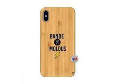 Coque iPhone XS MAX Bandes De Moldus Bois Bamboo